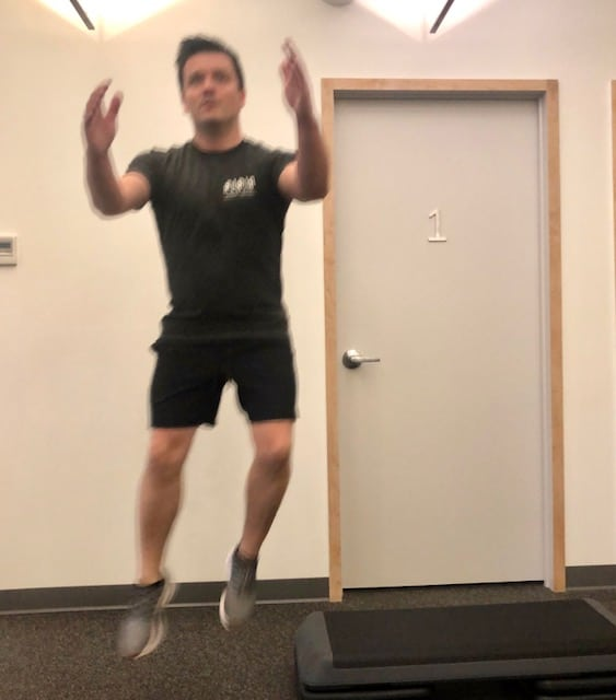 Lateral drop squat - Position 3 of 4
